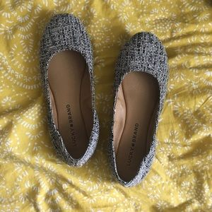 Lucky Brand Tweed Nude Textured Flats